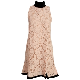 Vestido Renda Nude Animale