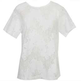 Blusa Quincy Off-white </br><b>CAROL BASSI</b>