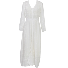 Vestido Lawrence Off-white </br><b>CAROL BASSI</b>