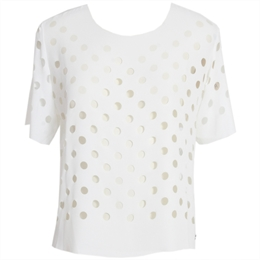 Blusa Manga Curta Laser Off-white LAFORT