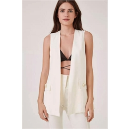 Colete Stephanie Off-white ANIMALE
