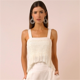 Top Xenia Off-white LINDA DE MORRER