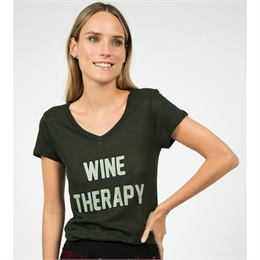 T-shirt Wine Therapy Verde J.CHERMANN