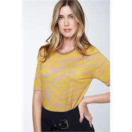 T-shirt Bia Amarelo ANIMALE