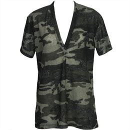 T-shirt Decote V Camuflada ANIMALE