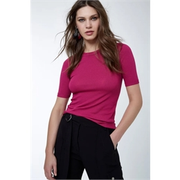 T-shirt Básica Tricot Pink ANIMALE