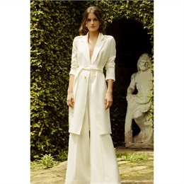 Trench-coat off-white IORANE