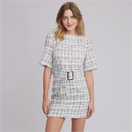 Vestido Tweed Liverpool CARMIM