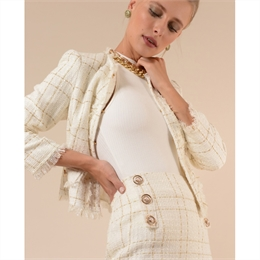 Casaquinho Clair tweed Off-white LINDA DE MORRER