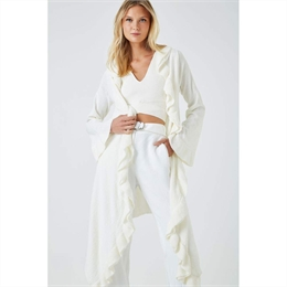 Cardigan Wrap Babado Off-white ANIMALE