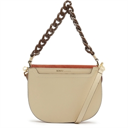 Bolsa Satchel Sam Egg Shell SCHUTZ