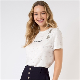 Camiseta Beatriz off-white LINDA DE MORRER