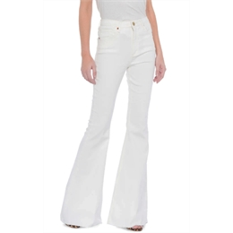 Calça Maxi Flare Off-white ANIMALE