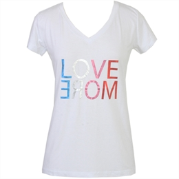 Camiseta Love More Branca J.CHERMANN