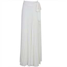 Saia Longa Plissada Donna Off-white LAFORT