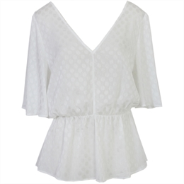 Blusa Florida Off-white CARMIM