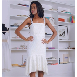 Vestido Shell Off-white CARMIM