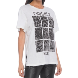 T-shirt Trouble Maker Off-white ANIMALE