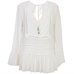 Blusa Seda Quadrado Off-white ANIMALE