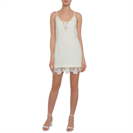 Vestido Guipir Off-white ANIMALE
