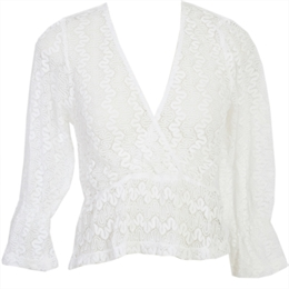 Blusa Lake Placid Off-white CAROL BASSI