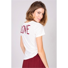 Camiseta Love Branca J.CHERMANN