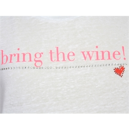 Camiseta Bring the wine Branca J.CHERMANN