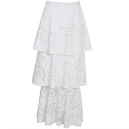 Saia Midi Erica Off-white LAFORT