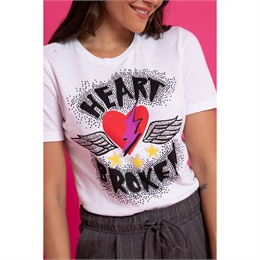 Camiseta Heart Broken Branca