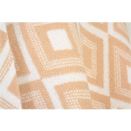 Poncho Tricot Off-white/Nude