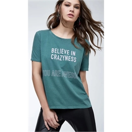 T-shirt Believe in Craziness ANIMALE