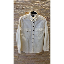 Camisa de sarja off-white J.CHERMANN